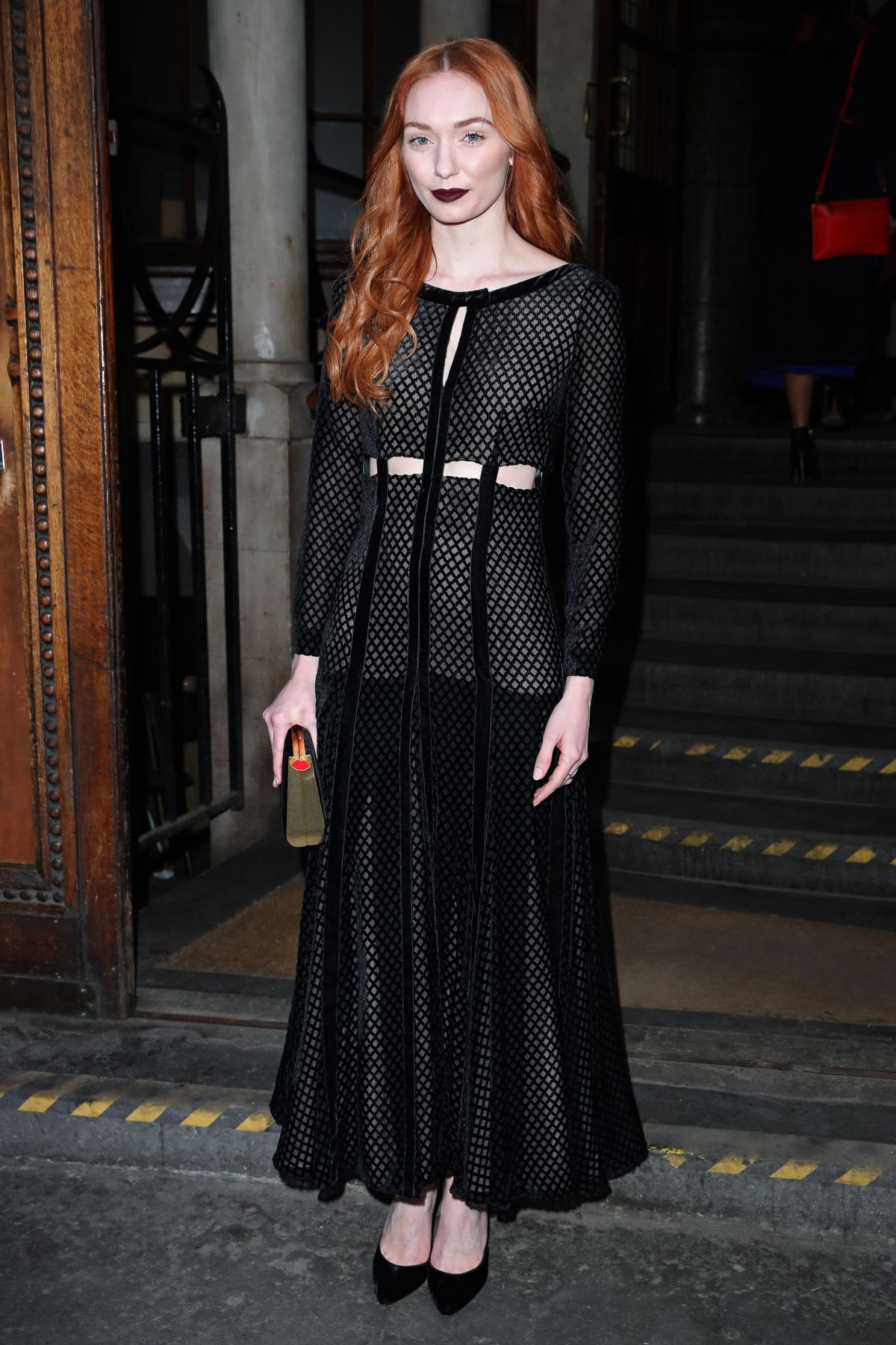 ELEANOR TOMLINSON at London Wahion Week 02/18/2107