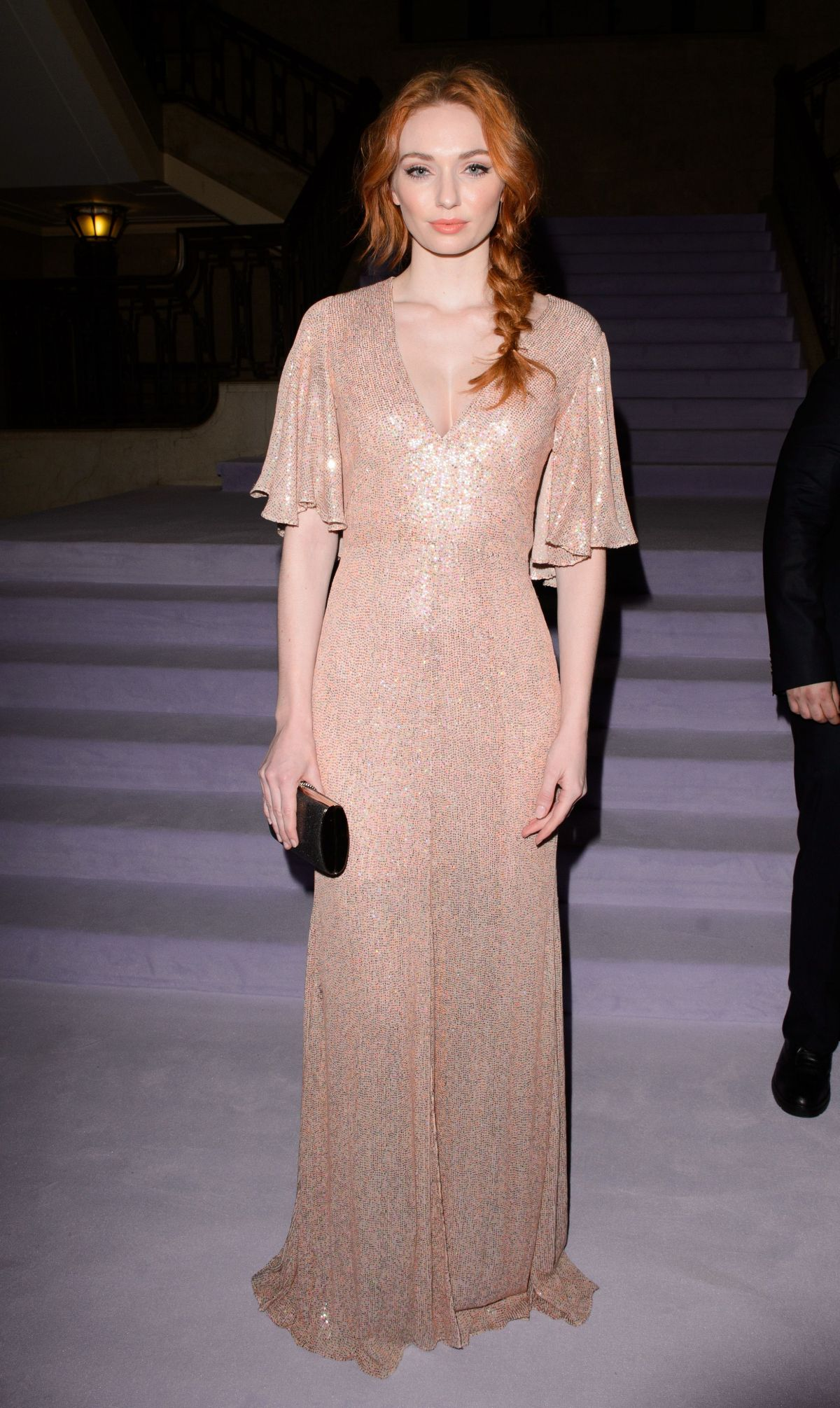 ELEANOR TOMLINSON at Temperley Fashion Show in London 02/19/2017