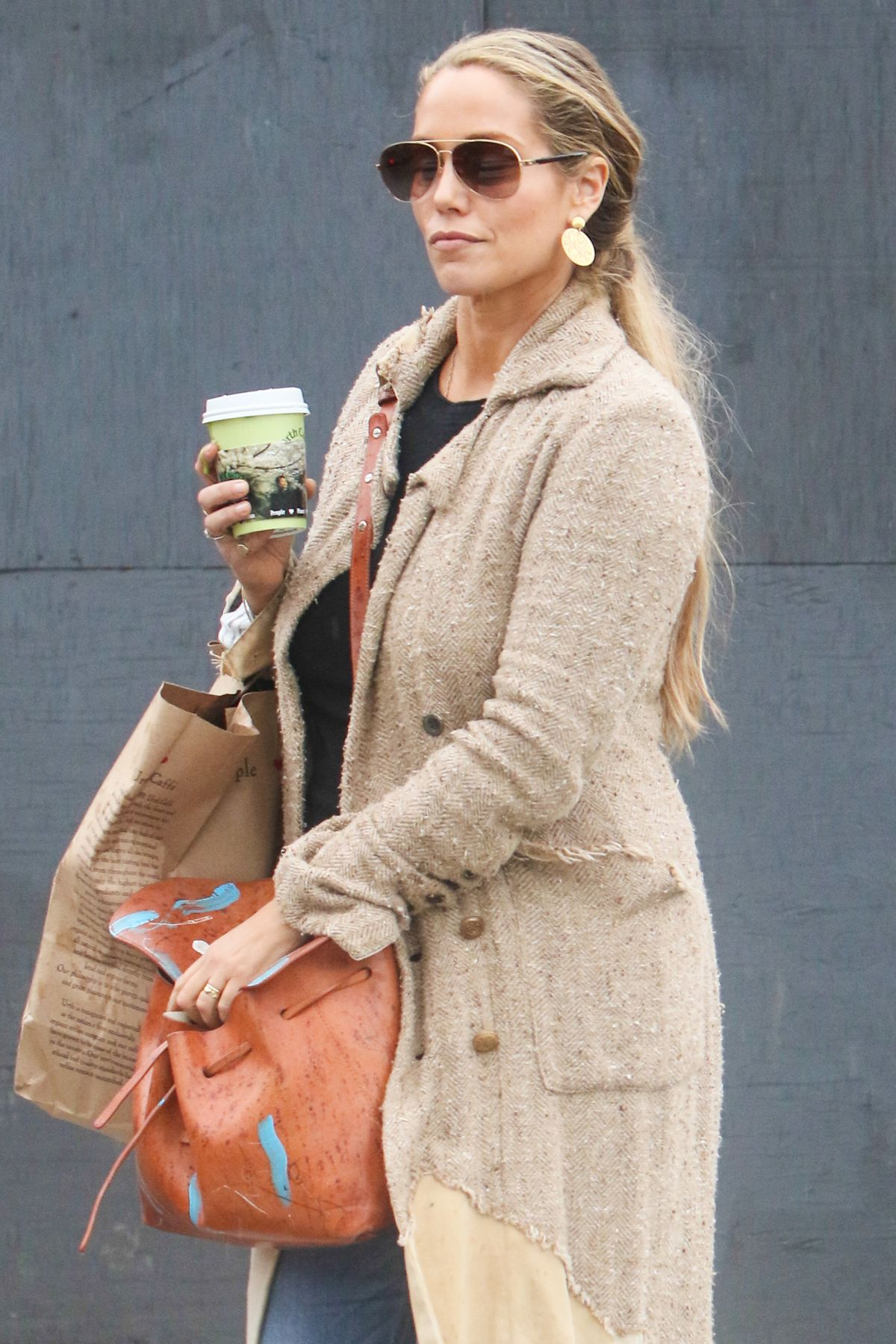 ELIZABETH BERKLEY Out for Coffee in West Hollywood 02/10/2017