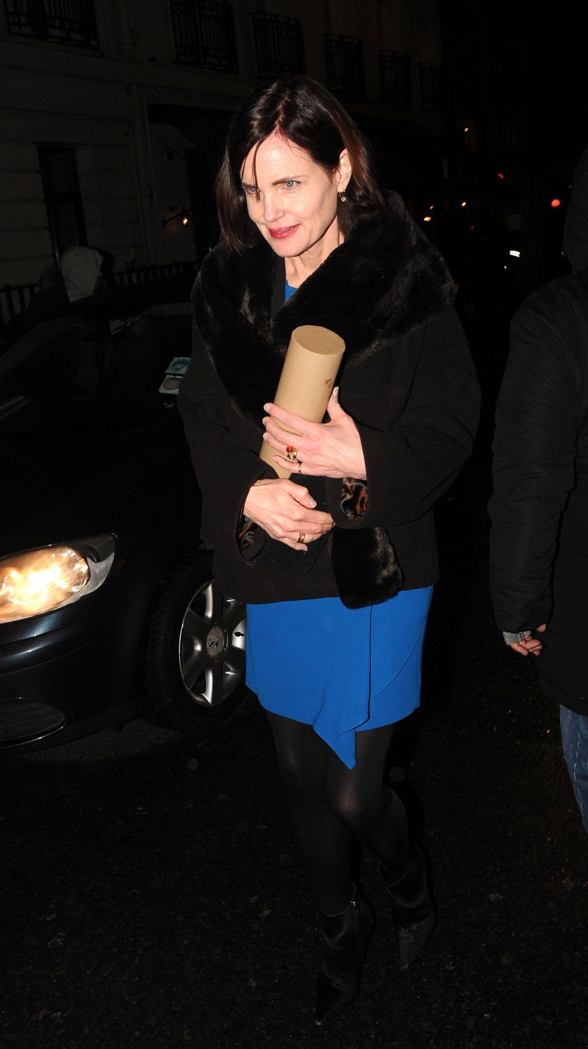 ELIZABETH MCGOVERN Arrives at Harvey Weinstein Pre Baftas Dinner in London 02/10/2017