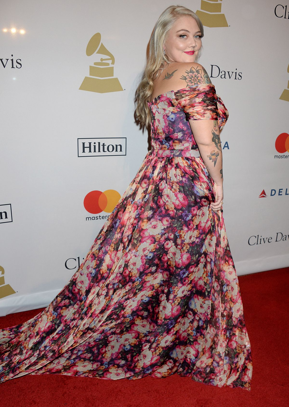 ELLE KING at Clive Davis Pre-grammy Party in Los Angeles 02/11/2017