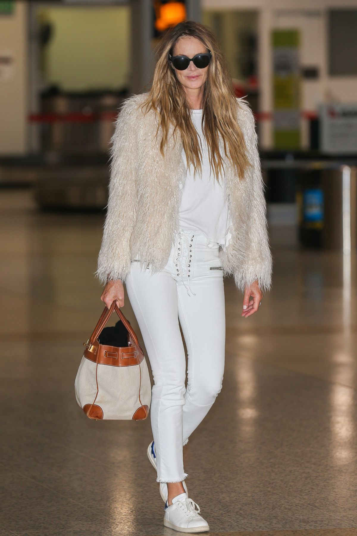 ELLE MACPHERSON at Airport in Melbourne 02/20/2017