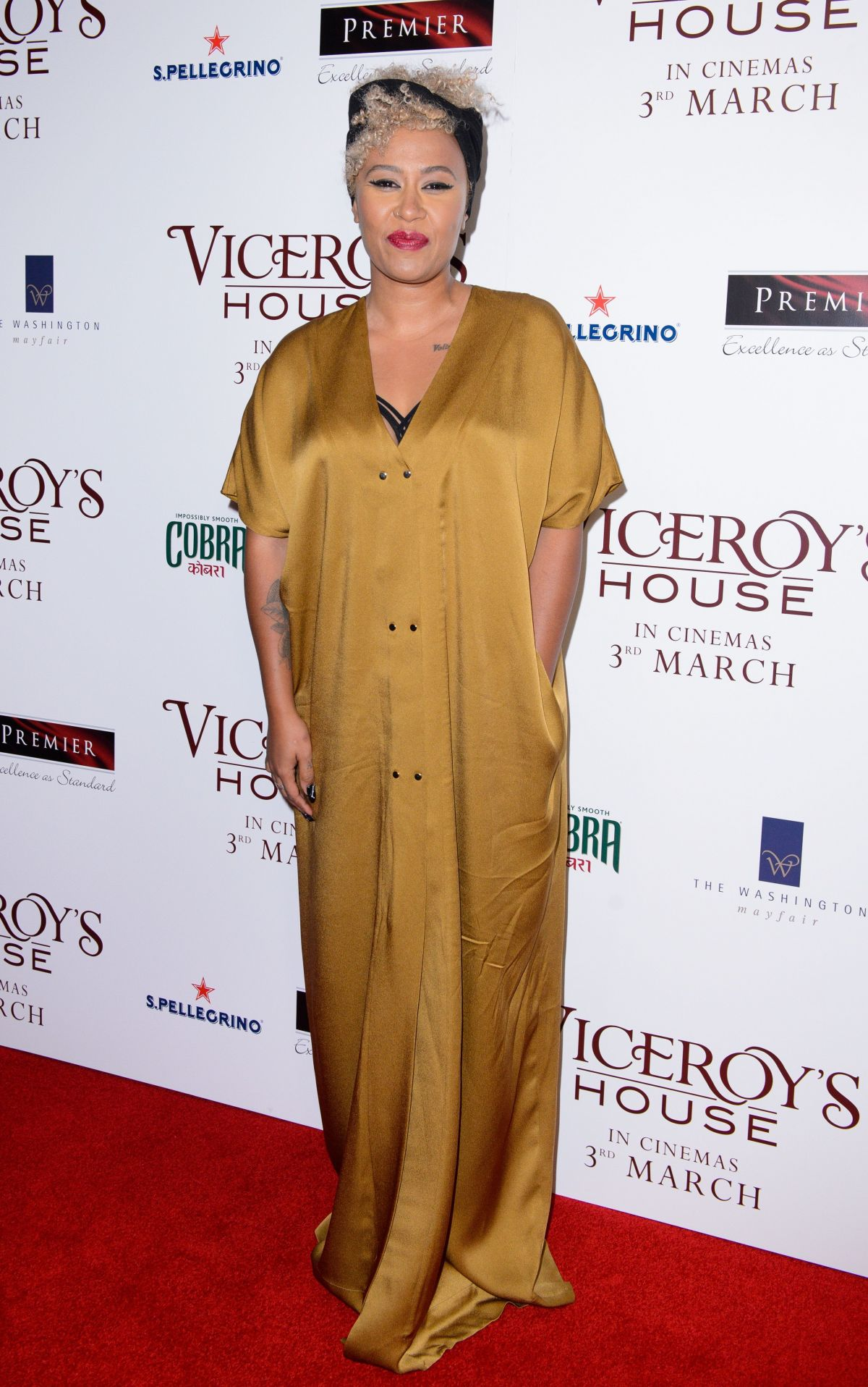 EMELI SANDE at Viceroy's House Premiere in London 02/21/2017