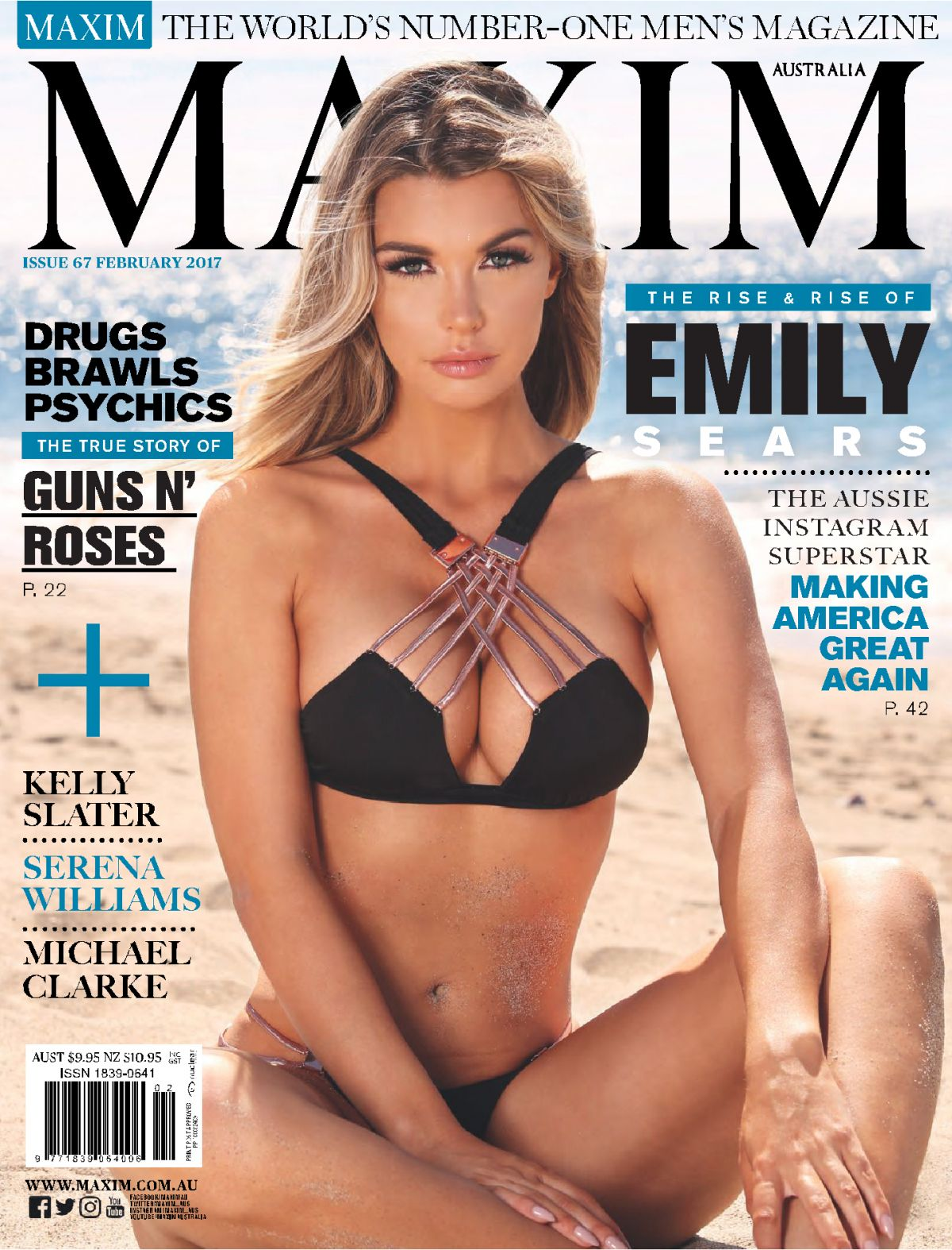 EMILY SEARS in Maxim Magazine, Australia February 2017 Issue