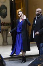 EMMA WATSON Leaves Her Hotel in Paris 02/20/2017
