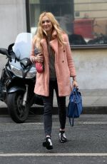 FEARNE COTTON Arrives at BBC Radio 2 in London 02/16/2017