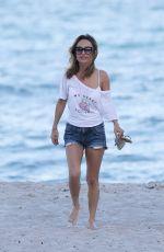 GIADA DE LAURENTIIS in Denim Shorts at a Beach in Miami 02/25/2017