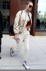 GIGI HADID Out in New York 02/16/207