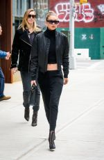 GIGI HADID Out in New York 02/20/2017
