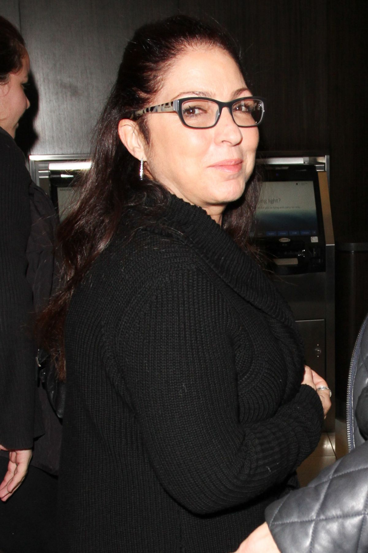 GLORIA ESTEFAN at LAX Airport in Los Angeles 02/17/2017