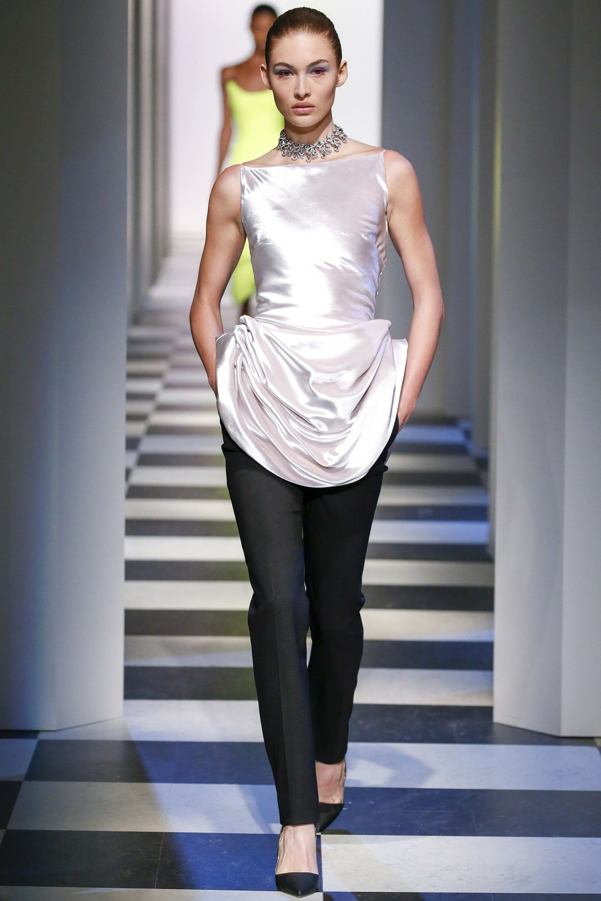 GRACE ELIZABETH at Oscar De La Renta Fashion Show in New York 02/18/2017