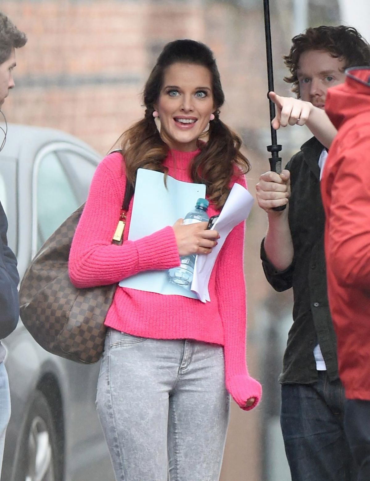HELEN FLANAGAN on the Set of Coronation Street in Manchester 02/23/2017