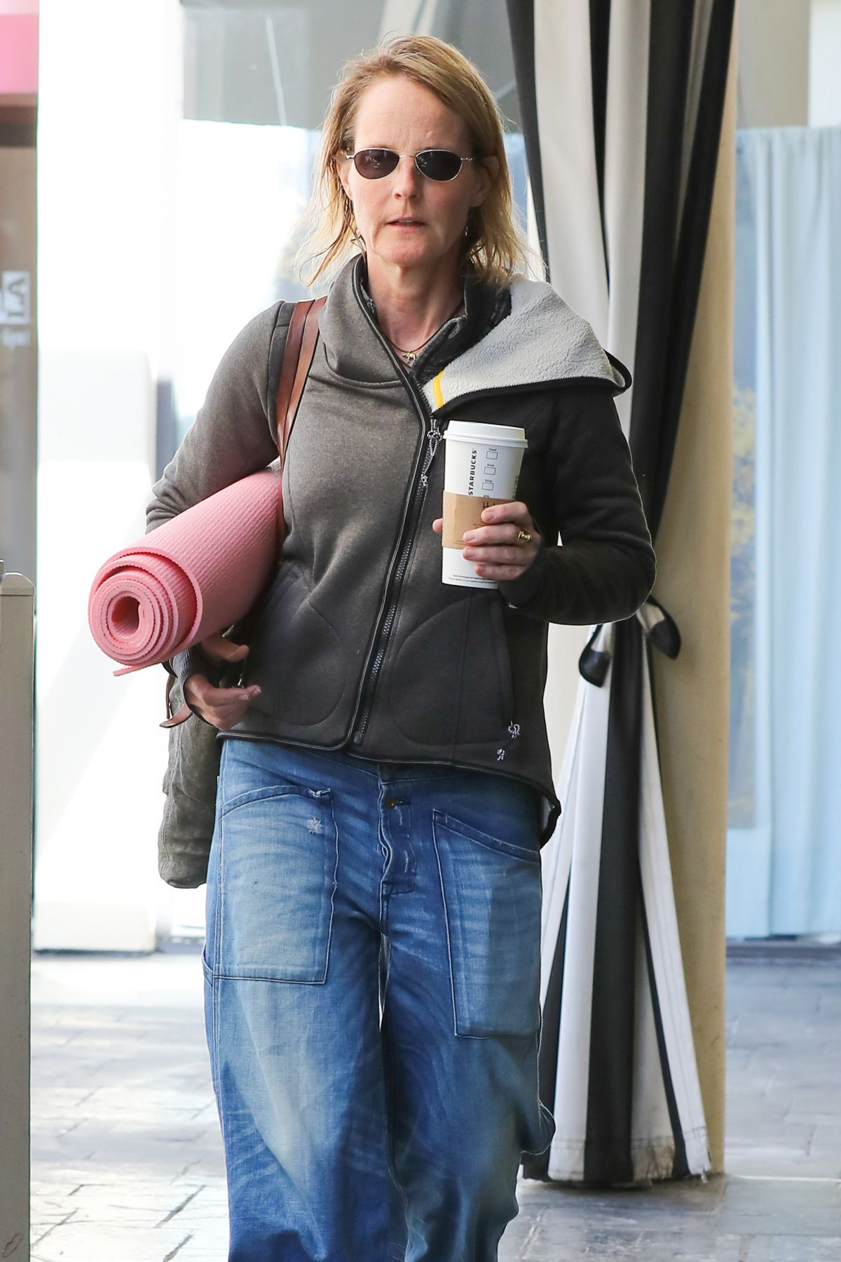 HELEN HUNT Heading to a Yoga Class in Brentwood 02/25/2017