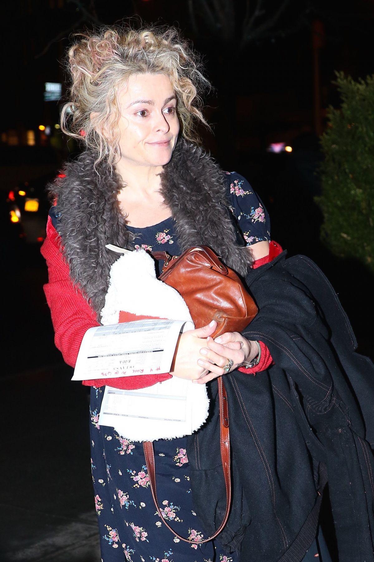 HELENA BONHAM CARTER Arrives to Her Home in New York 01/31/2017