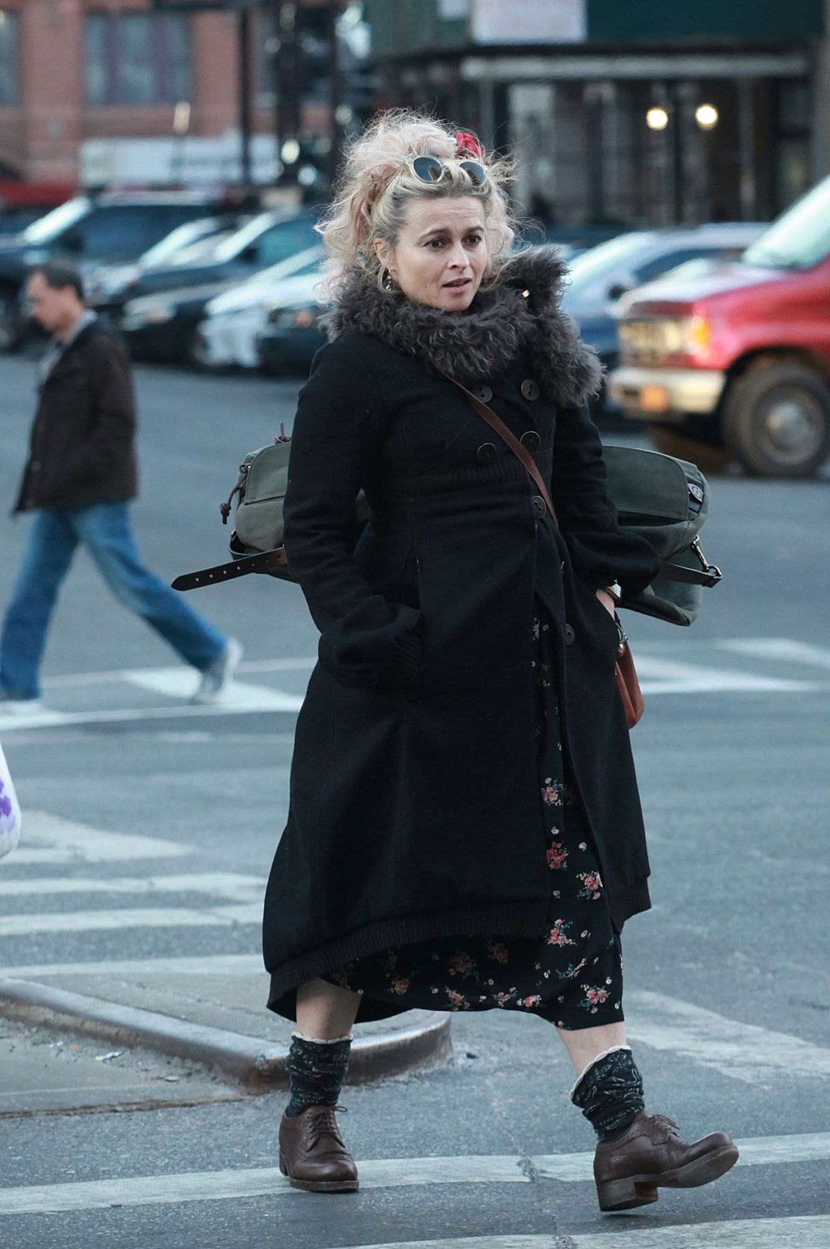 HELENA BONHAM CARTER Out in New York 02/06/2017
