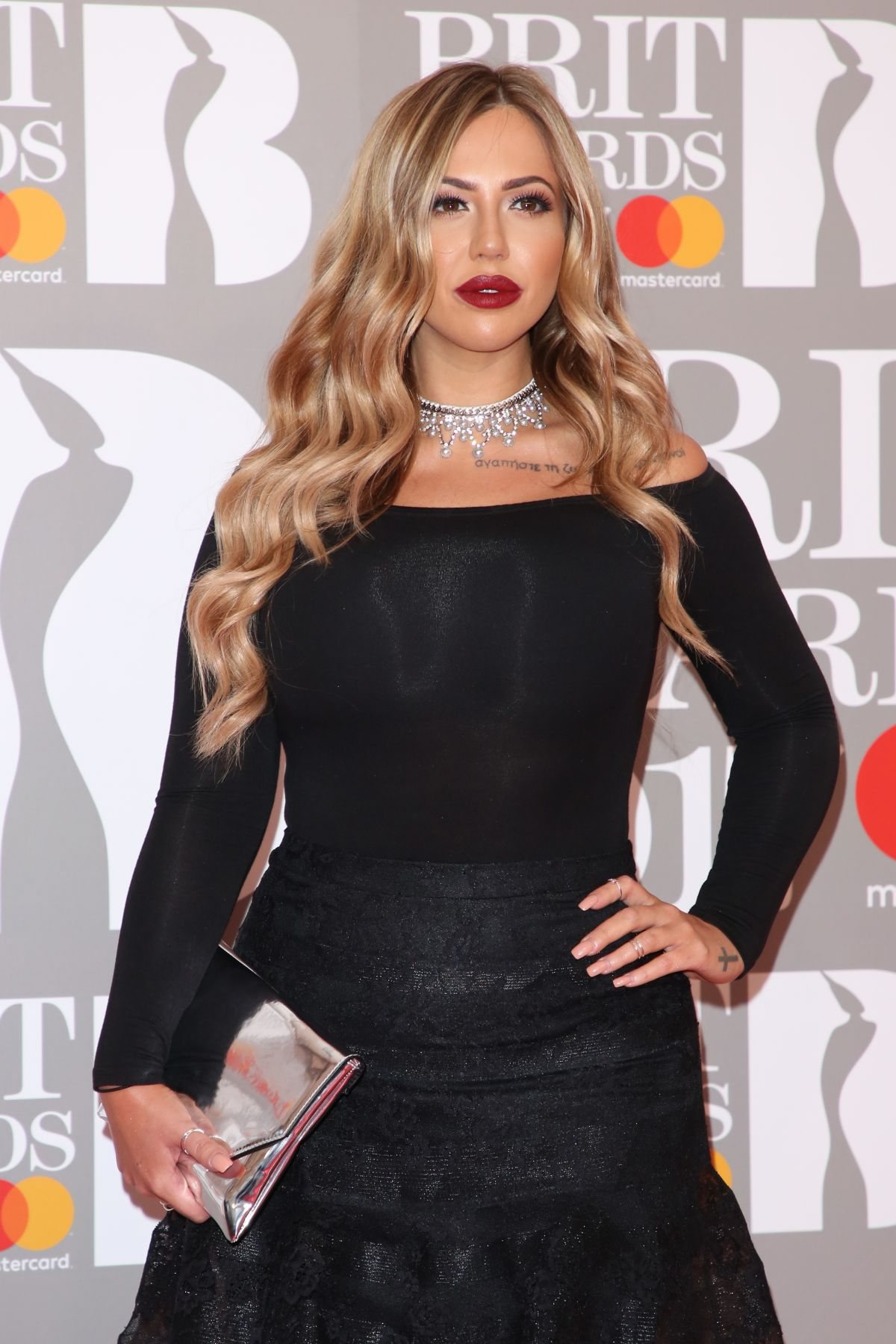 HOLLY HAGAN at Brit Awards 2017 in London 02/22/2017