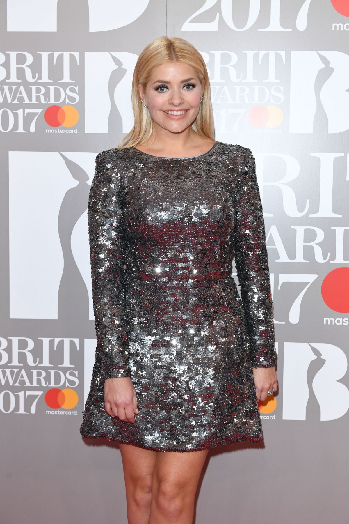 HOLLY WILLOUGHBY at Brit Awards 2017 in London 02/22/2017