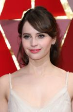 FELICITY JONES at 89th Annual Academy Awards in Hollywood 02/26/2017