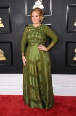 ADELE at 59th Annual Grammy Awards in Los Angeles 02/12/2017