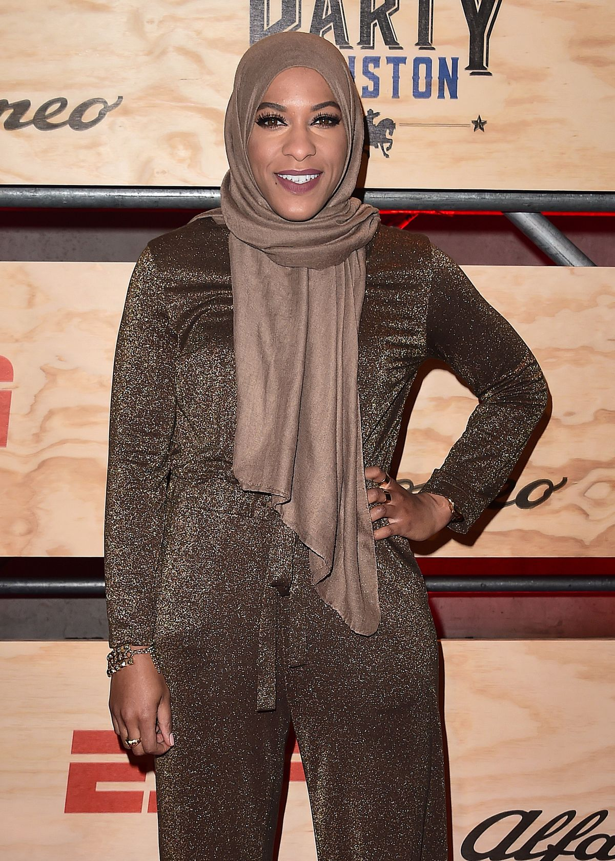 IBTIHAJ MUHAMMAD at 13th Annual ESPN Party in Houston 02/03/2017