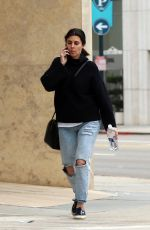 JAMIE LYNN SIGLER in Ripped Jeans Out in Los Angeles 02/27/2017