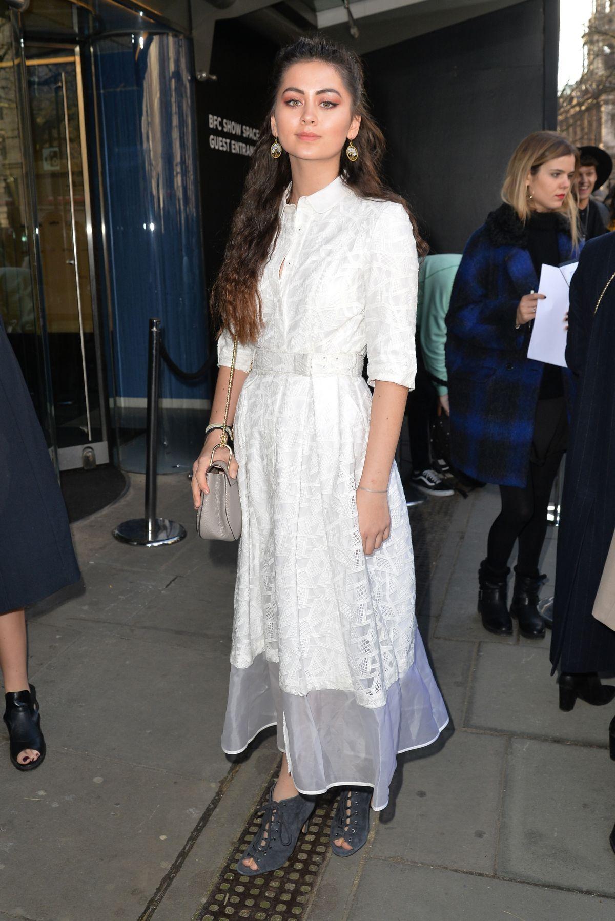 JASMNE THOMPSON at Bora Aksu Fashion Show at London Fashion Week 02/17/2017