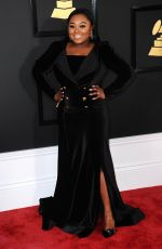 JEKALYN CARR at 59th Annual Grammy Awards in Los Angeles 02/12/2017