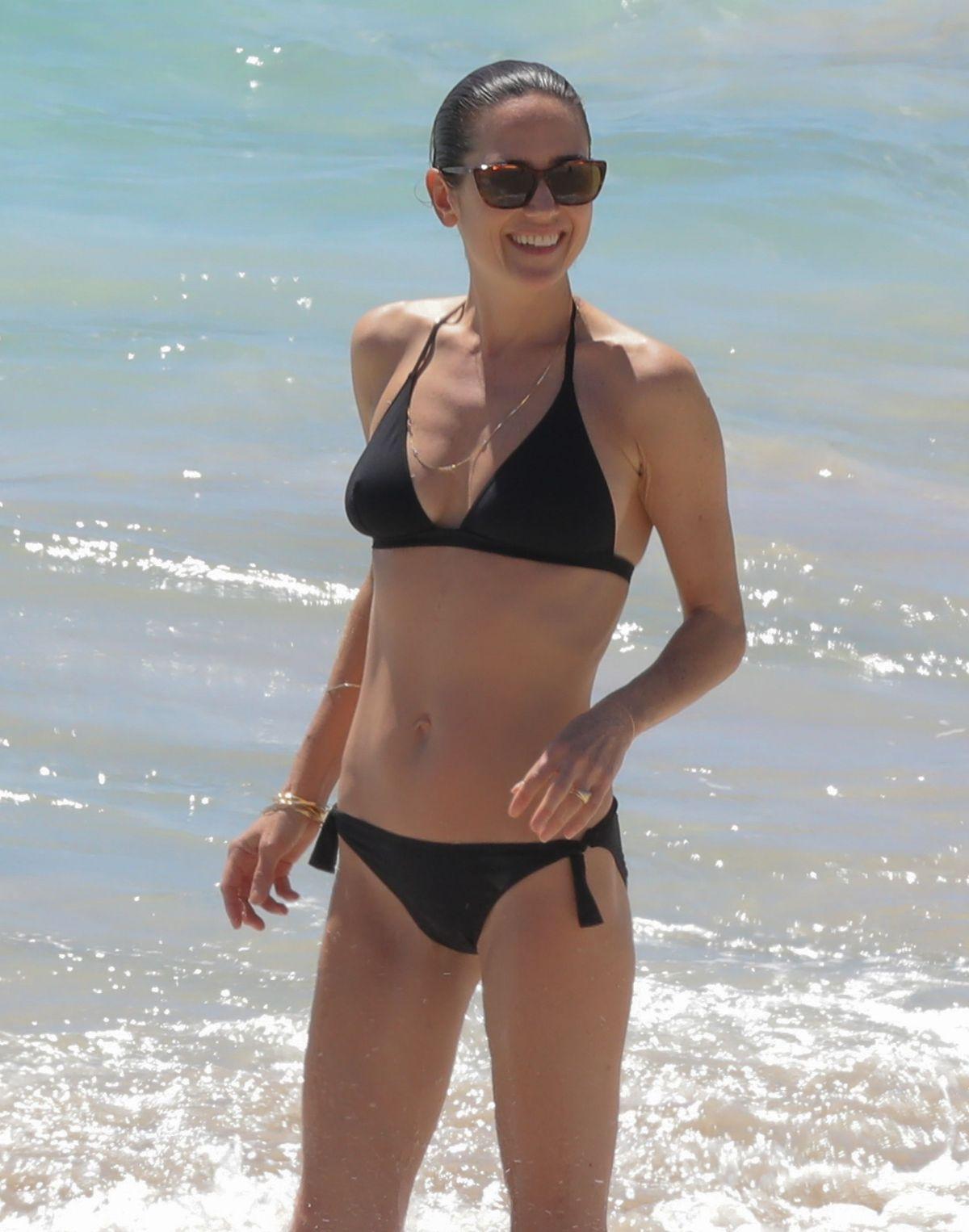 JENNIFER CONNELLY in Bikini on the Beach in St. Barts 02