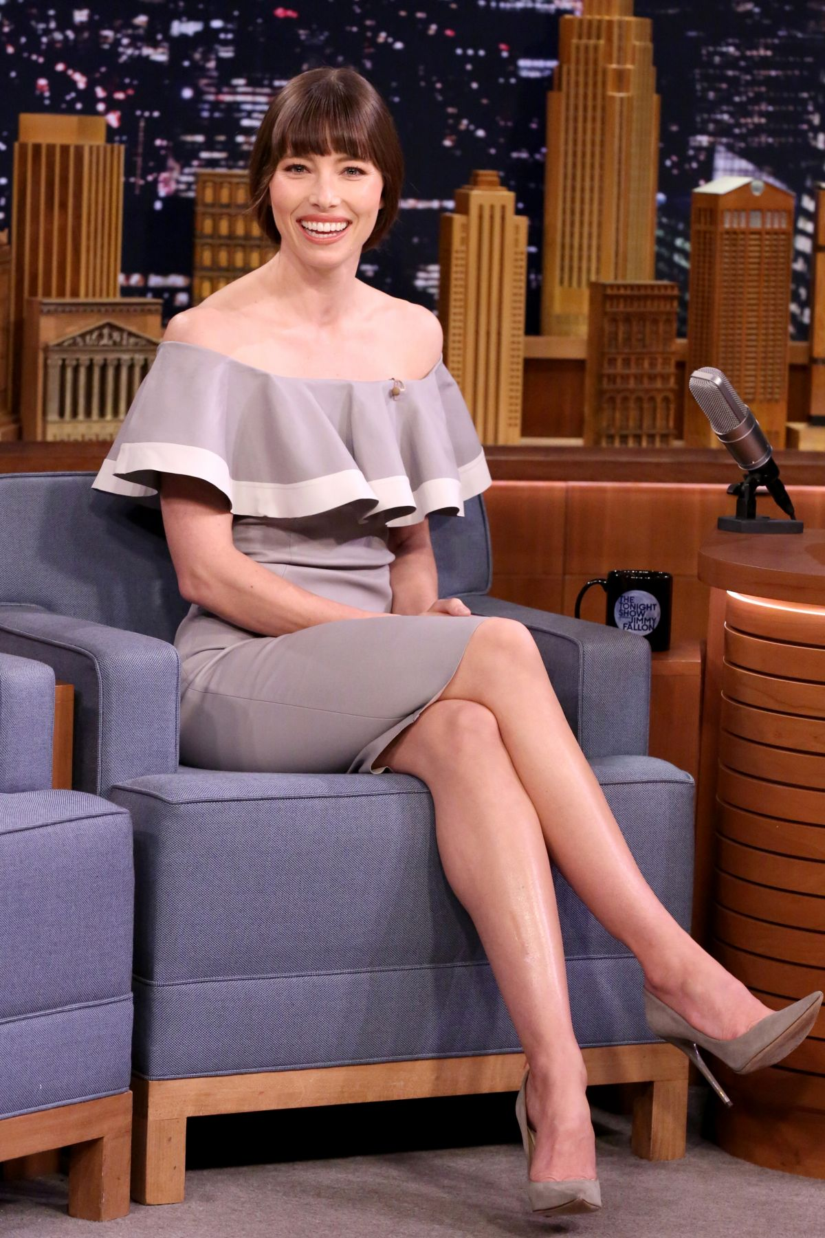 JESSICA BIEL at The Tonight Show Starring Jimmy Fallon 02/16/2017