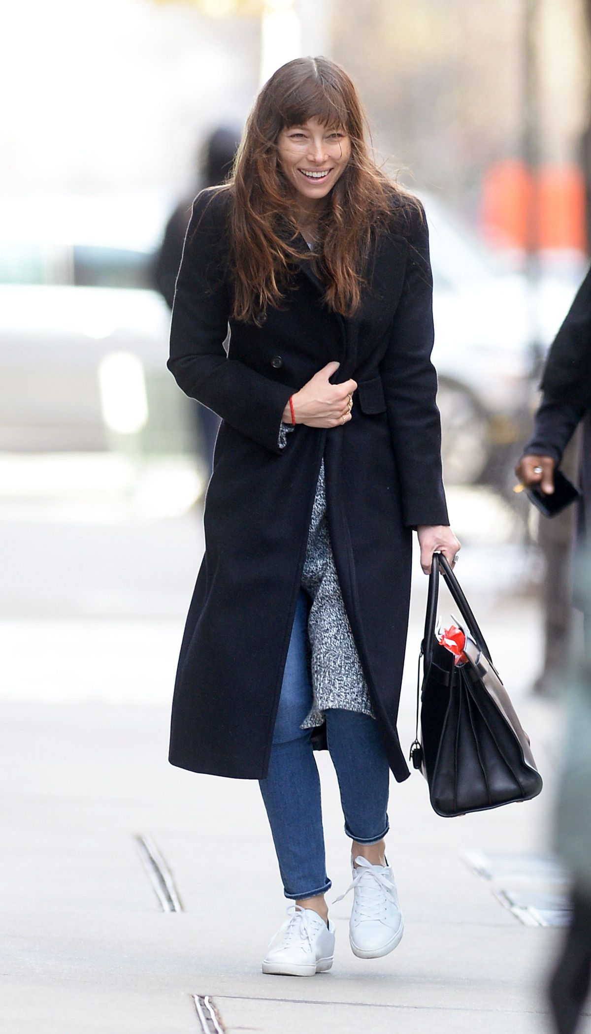 JESSICA BIEL Out Shopping in New York 02/16/2017