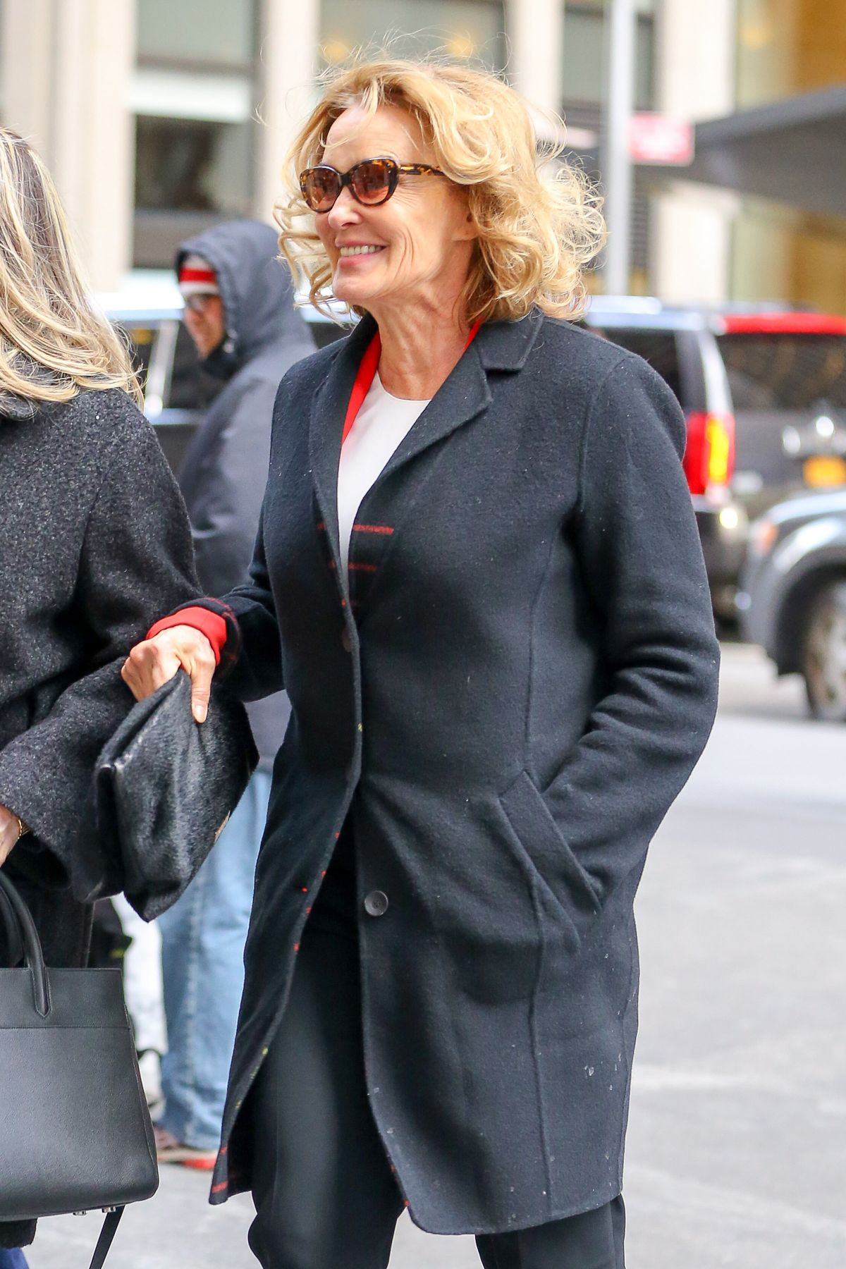 JESSICA LANGE Arrives at SiriusXM Studios in New York 02/13/2017