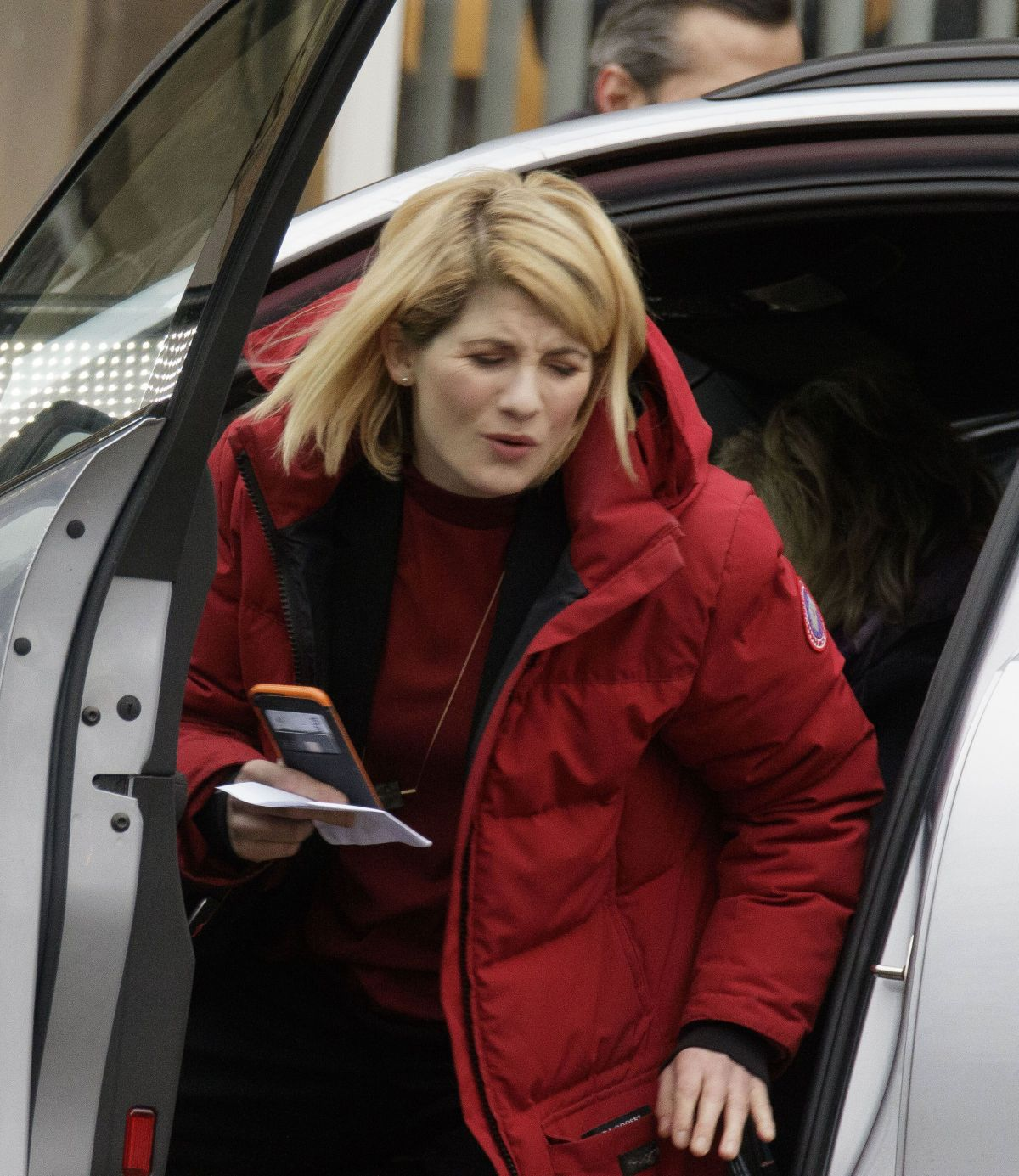 JODIE WHITTAKER on the Set of