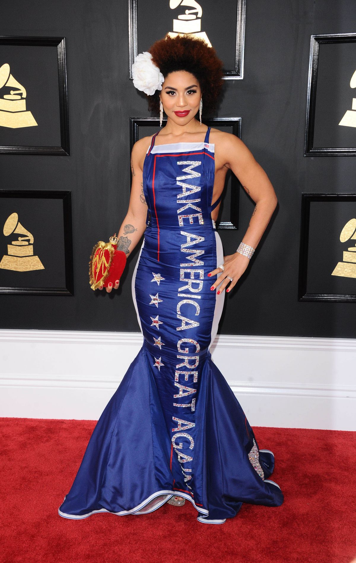 JOY VILLA at 59th Annual Grammy Awards in Los Angeles 02/12/2017