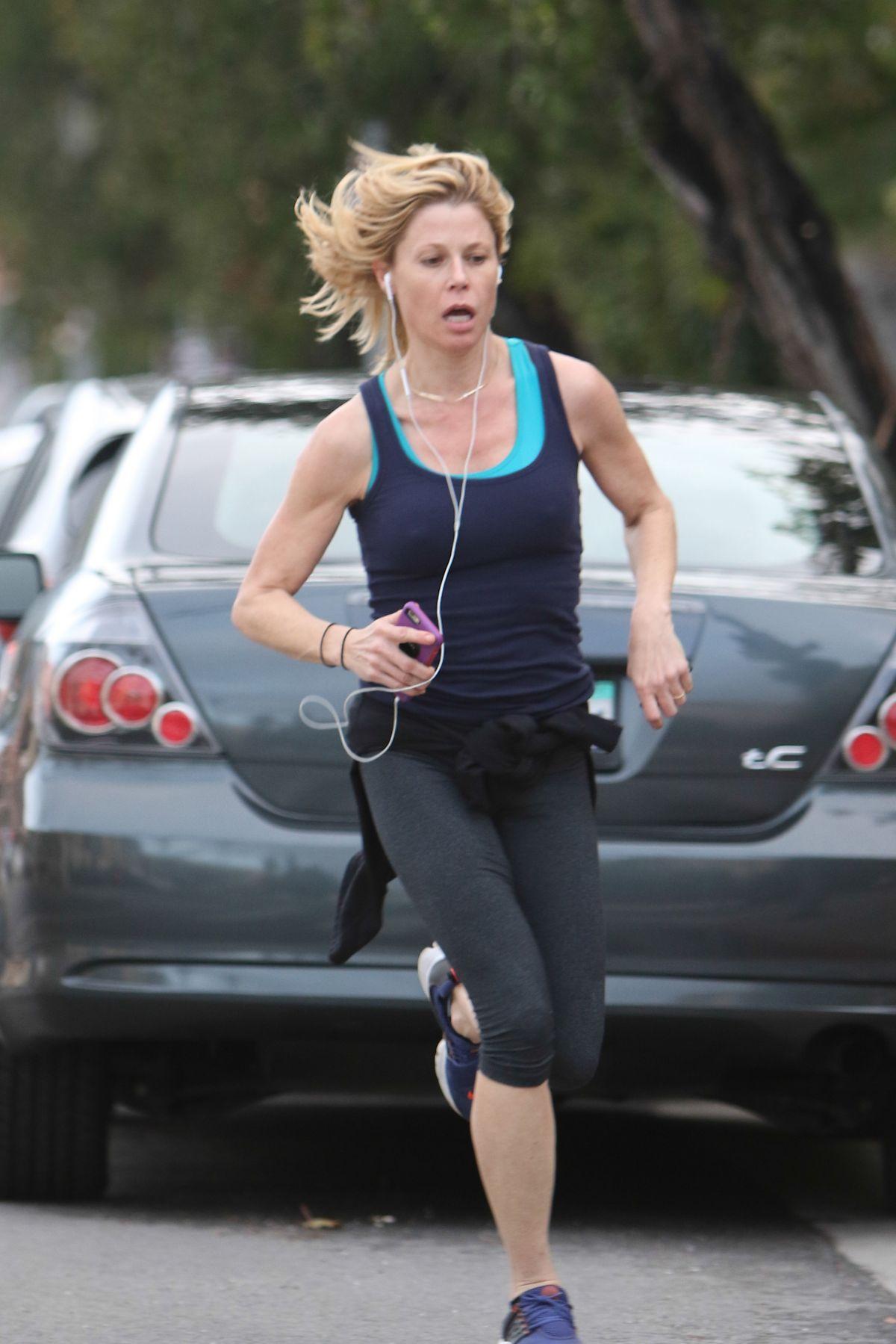 JULIA BOWEN Out for Jogging in Sherman Oaks 02/06/2017