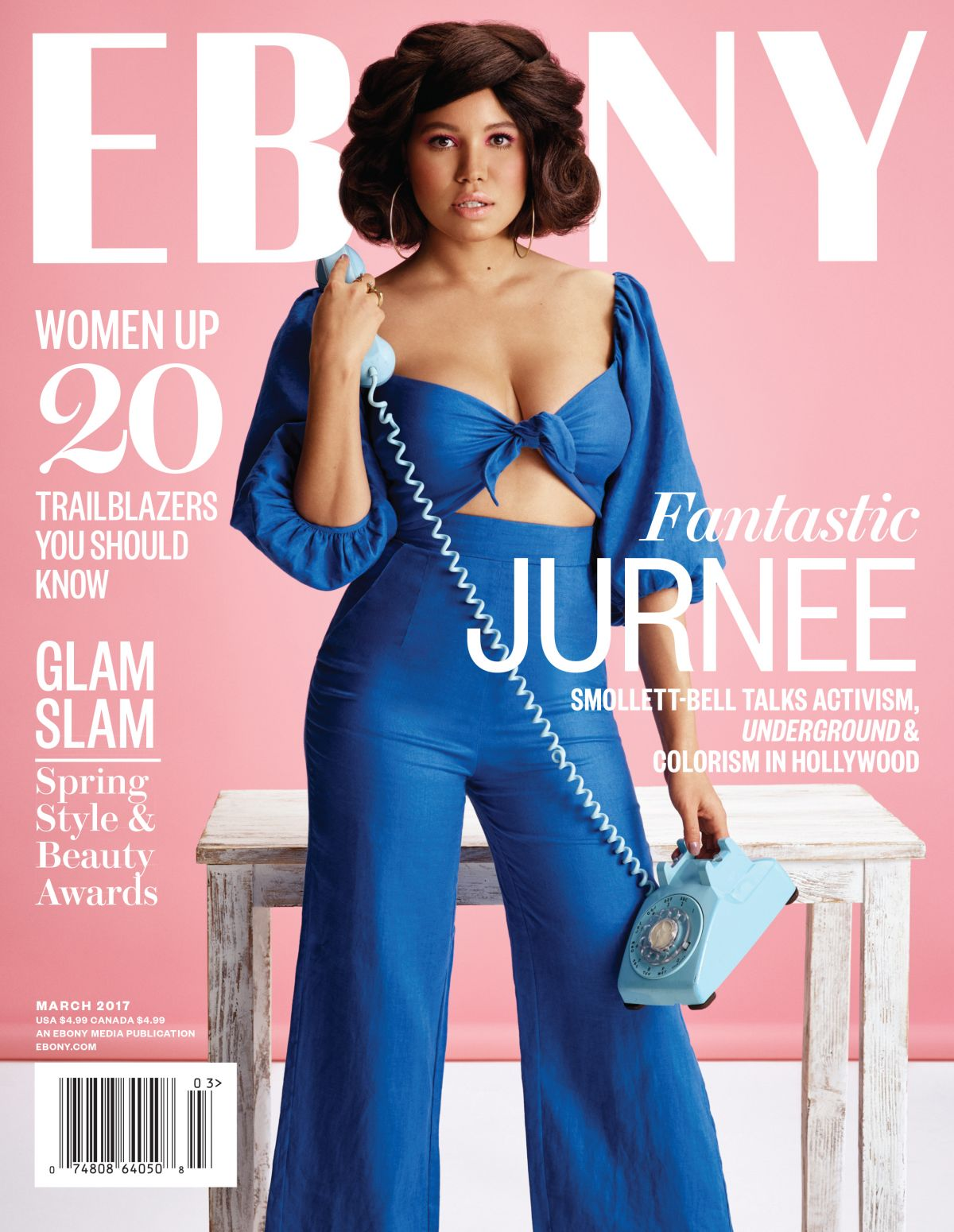 JURNEE SMOLLETT in Ebony Magazine, March 2017