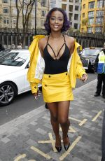 JUSTINE SKYE at Topshop Unique Show in London 02/19/2017