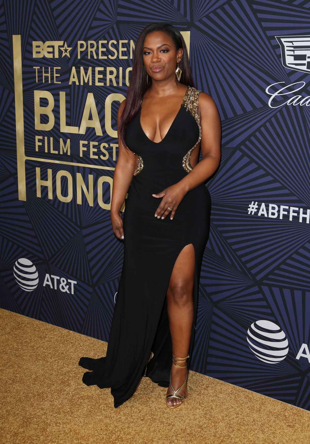 KANDI BURRUSS at Bet's 2017 American Black Film Festival Honors Awards in Beverly Hills 02/17/2017