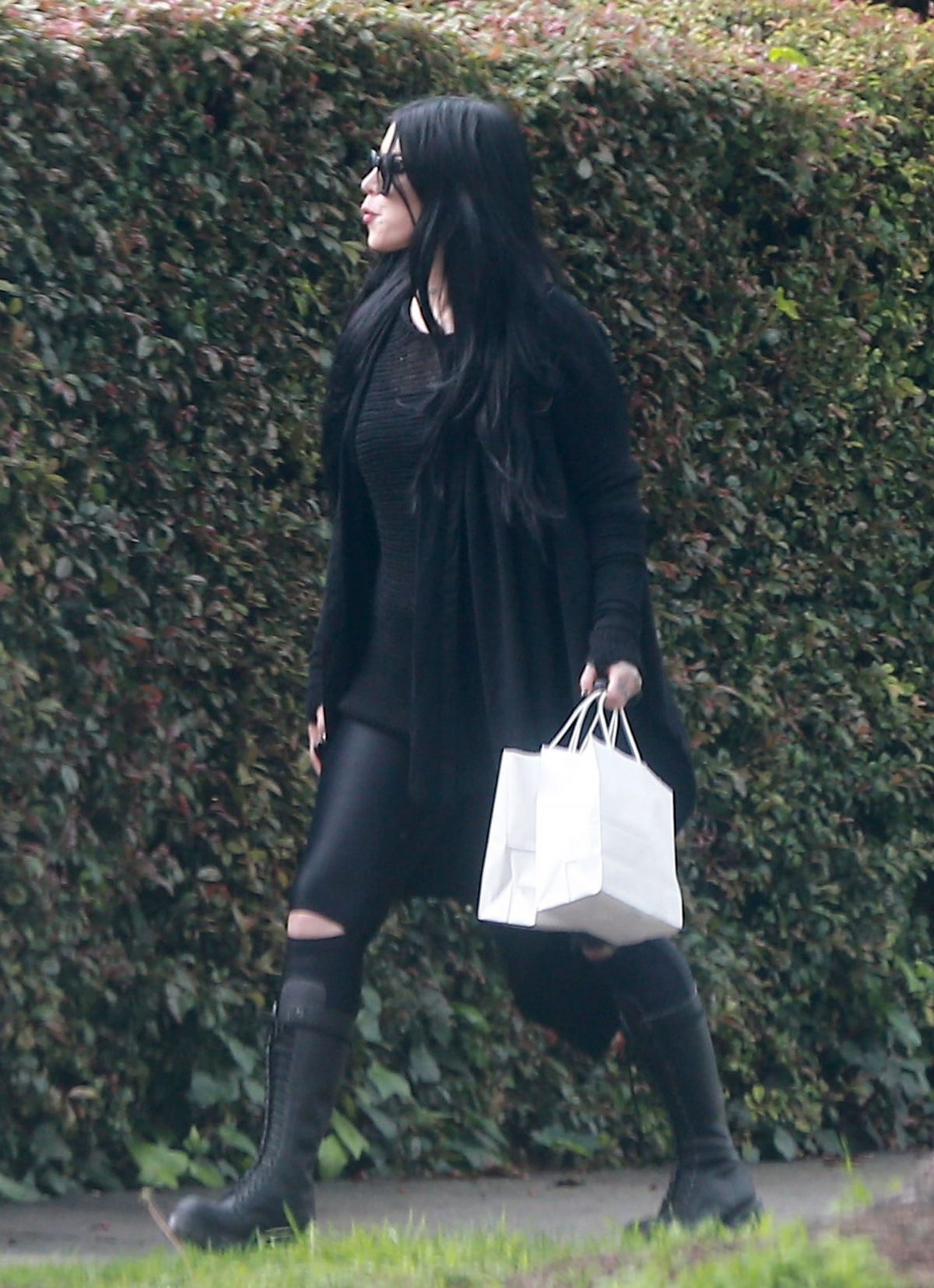 KAT VON D Out and About in Los Angeles 02/07/2017 - HawtCelebs