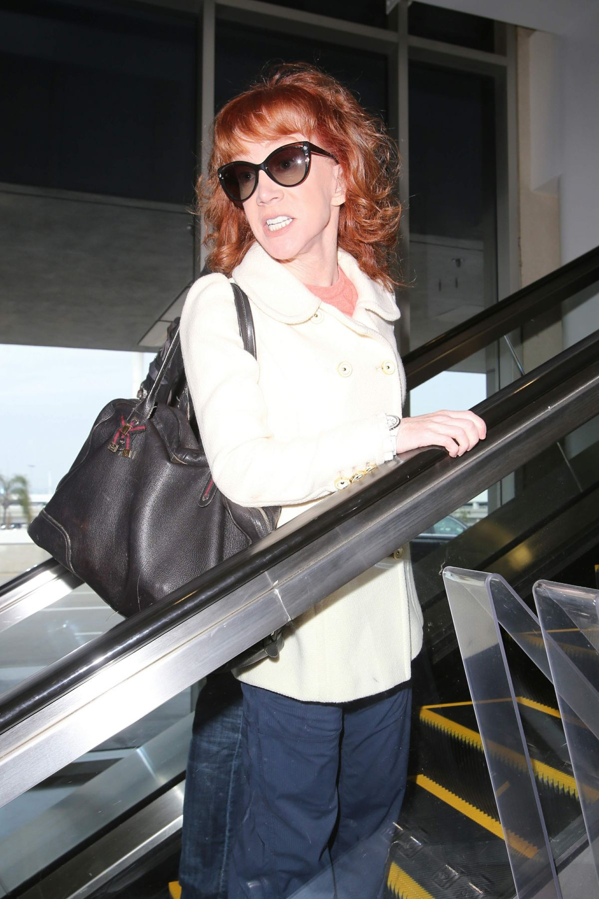 KATHY GRIFFIN at Los Angeles International Airport 02/02/2017
