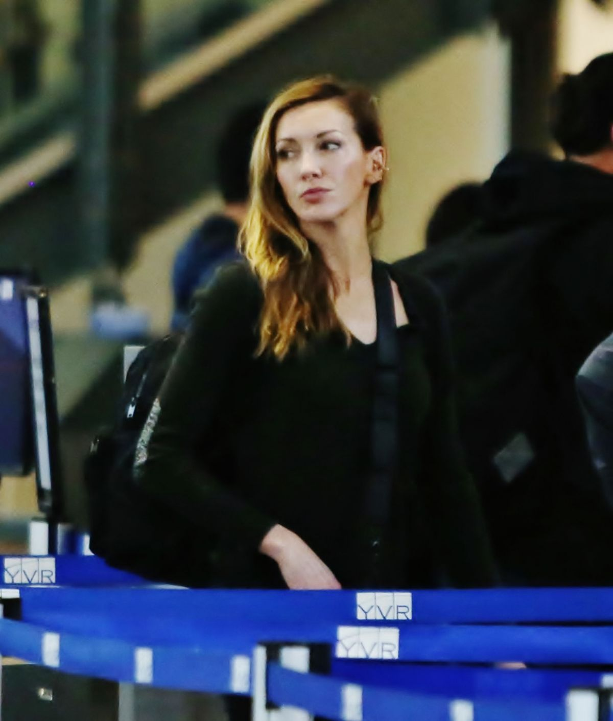 KATIE CASSIDY at Vancouver International Airport 02/16 ...
