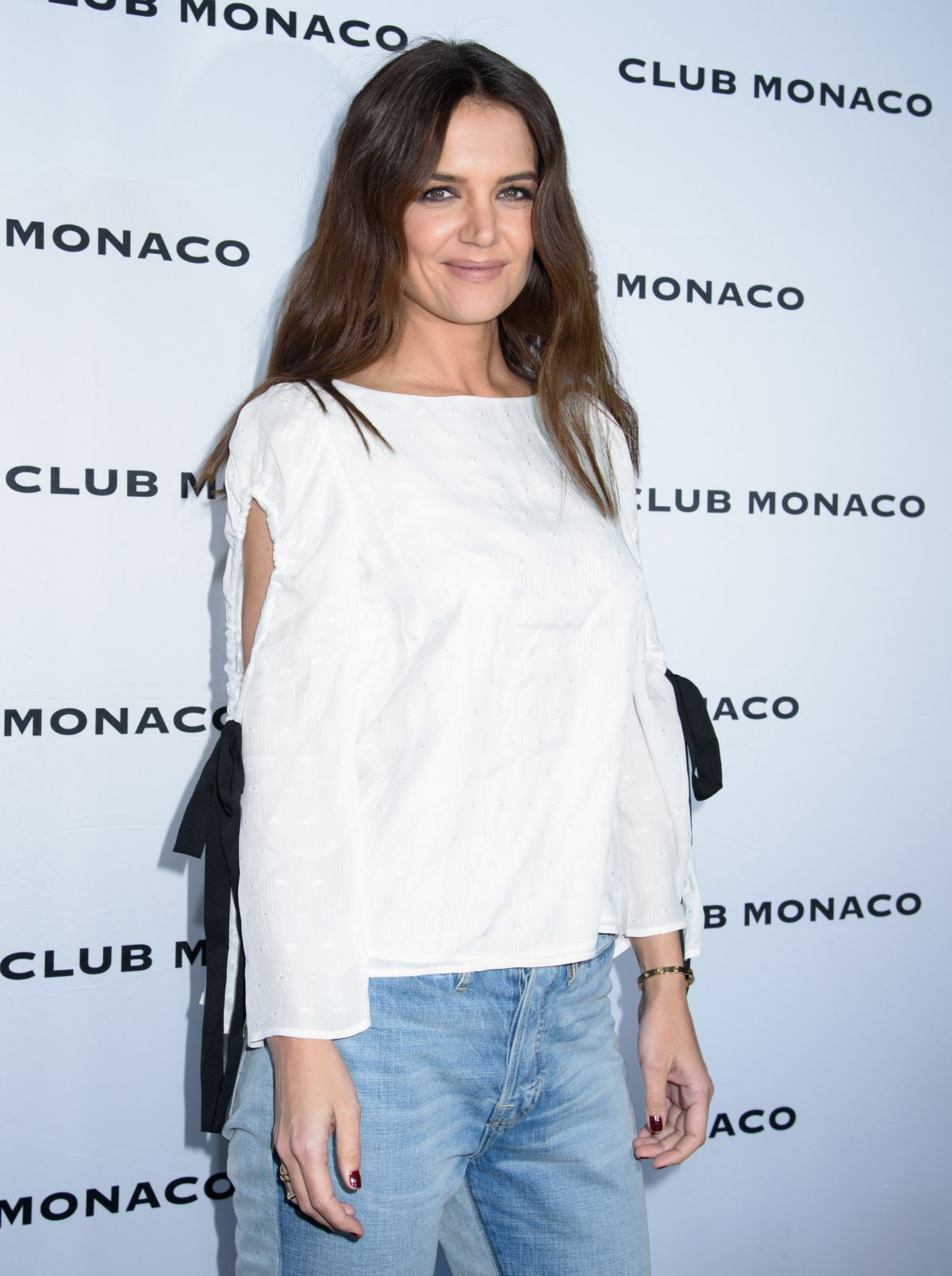 KATIE HOLMES at Club Monaco Fashion Presentation in New York 02/10/2017
