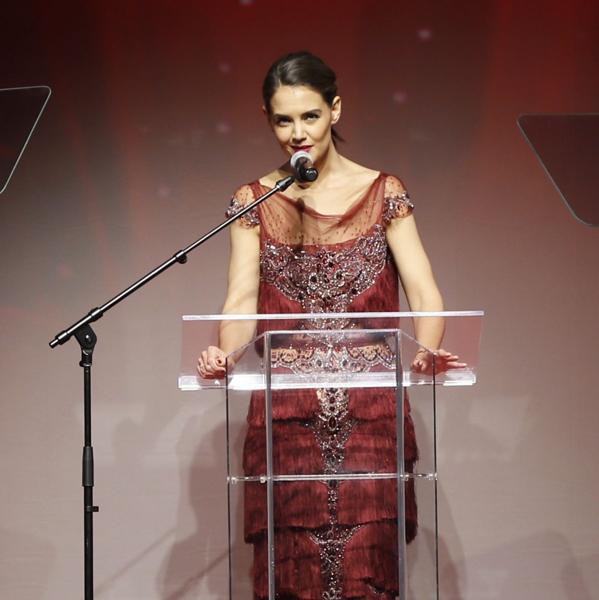 KATIE HOLMES Hosts American Heart Association