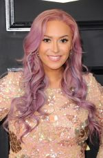 KAYA JONES at 59th Annual Grammy Awards in Los Angeles 02/12/2017