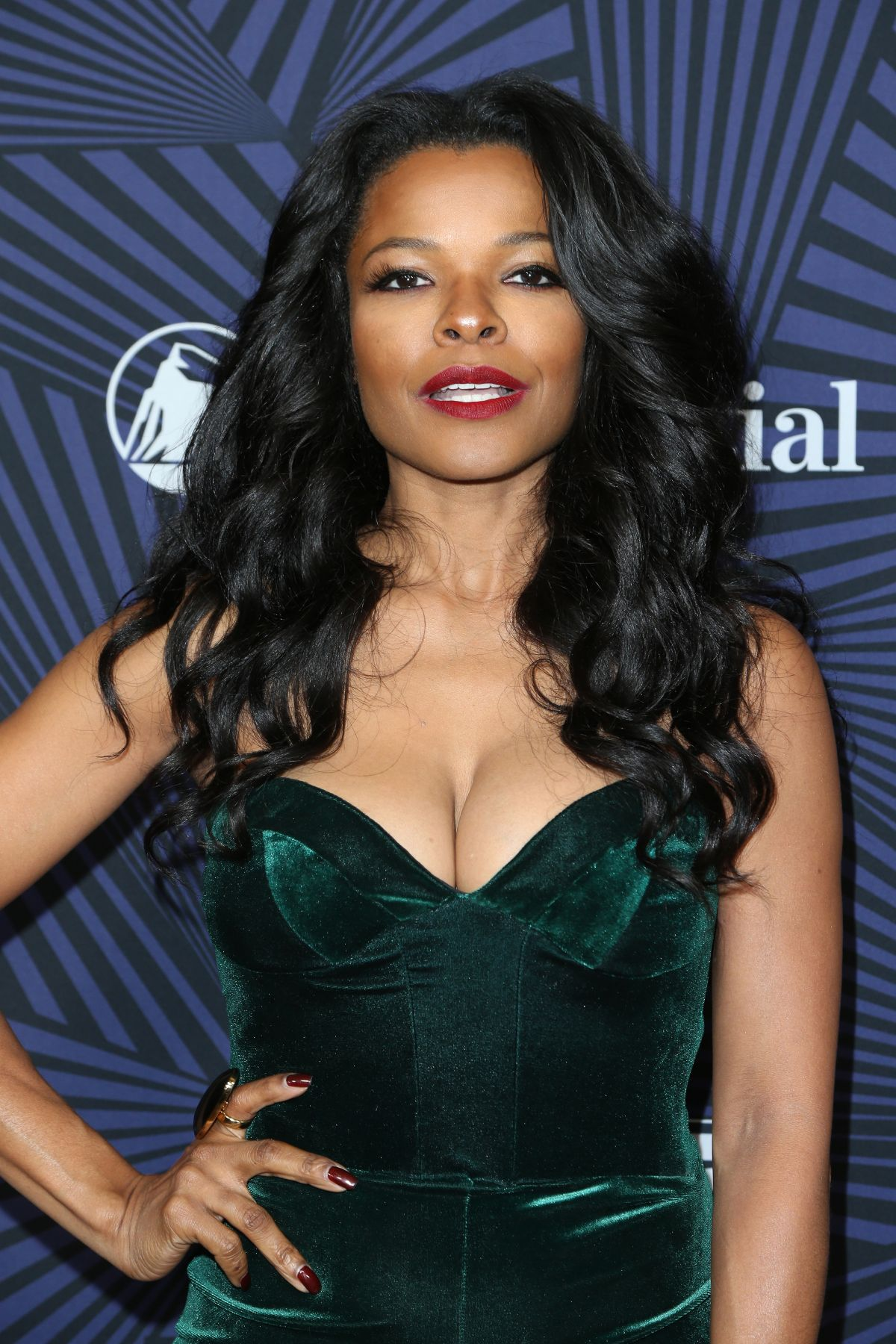 KEESHA SHARP at Bet's 2017 American Black Film Festival Honors Awards in Beverly Hills 02/17/2017