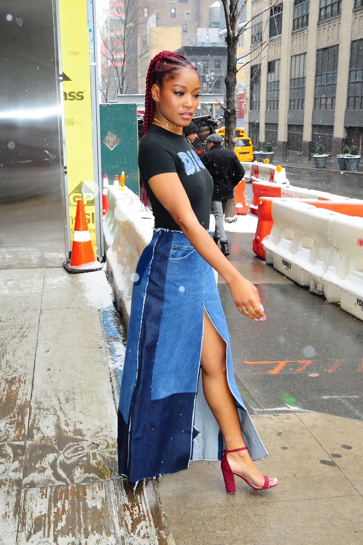 KEKE PALMER Leaves Associated Press Offices in New York 01 ...