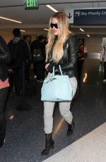 KHLOE KARDASHIAN at Los Angeles International Airport 02/14/2017