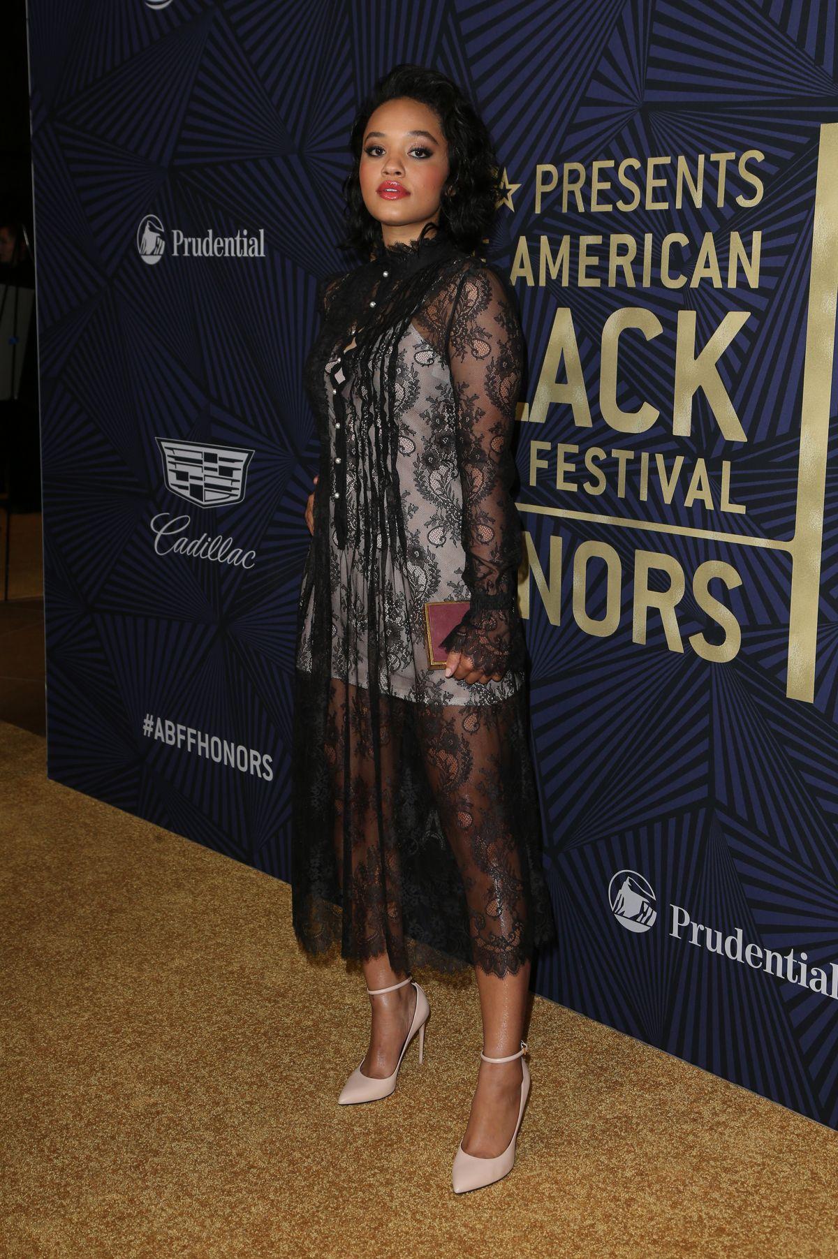 KIERSEY CLEMONS at Bet's 2017 American Black Film Festival Honors Awards in Beverly Hills 02/17/2017
