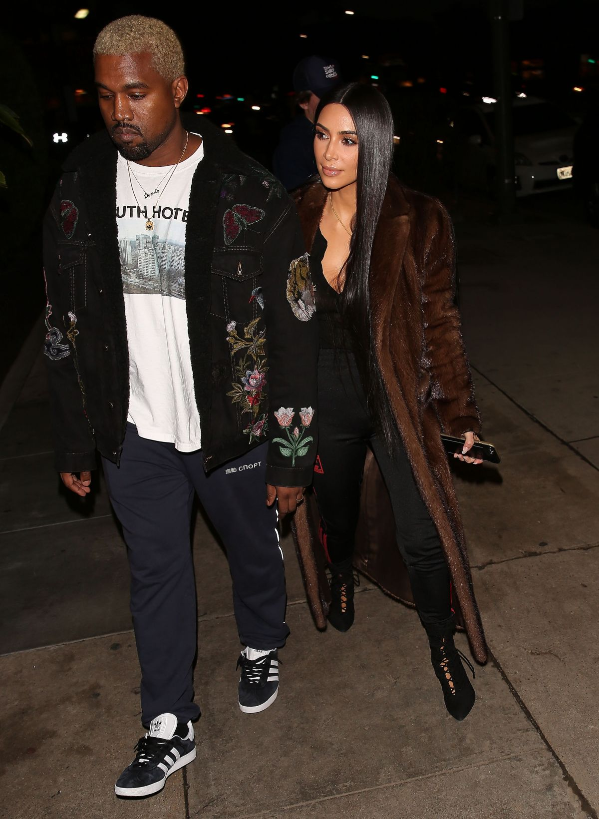 KIM KARDASHIAN and Kanye West Out for Dinner in Los Angeles 02/18/2017