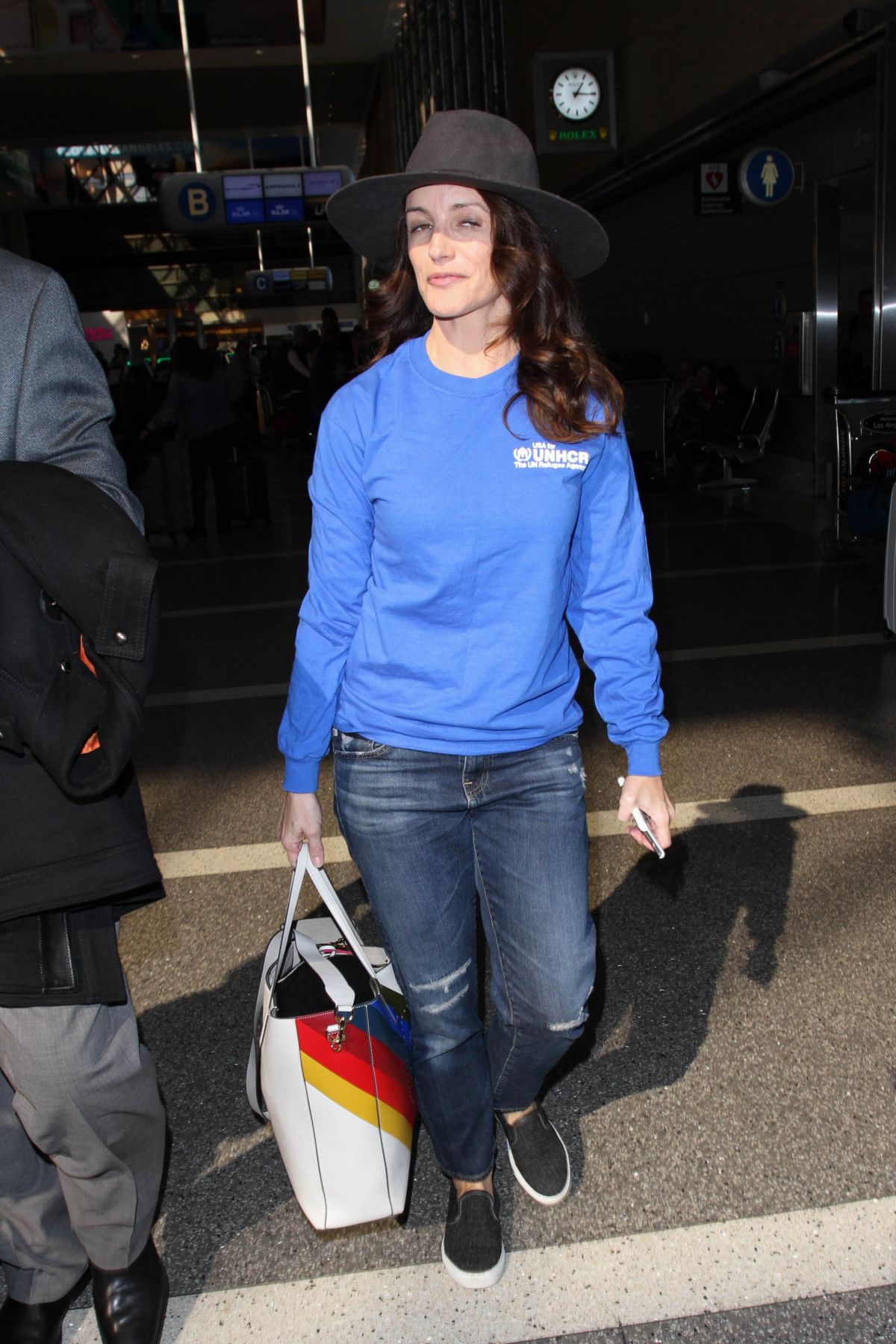 KRISTIN DAVIS at LAX Airport in Los Angeles 01/31/2017
