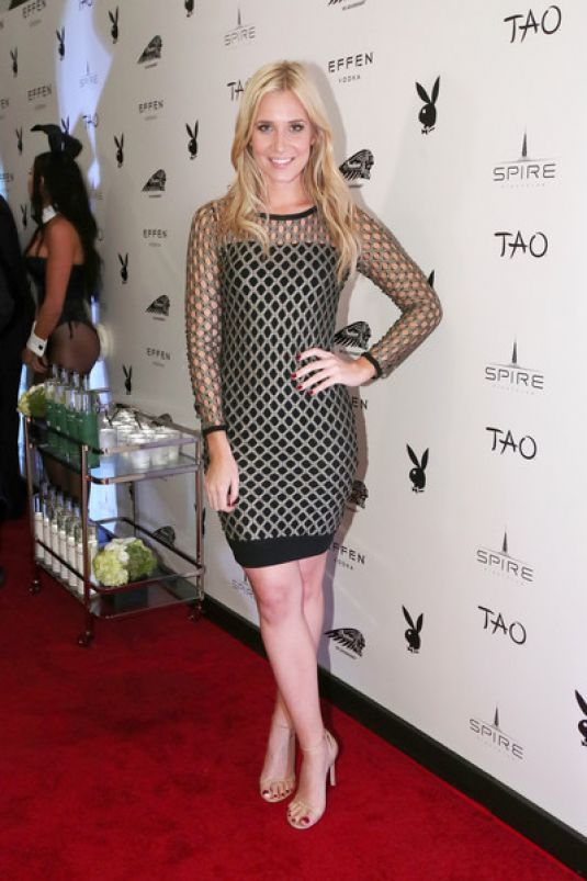 KRISTINE LEAHY at Playboy Party with Tao Group at Spire Nightclub 02/04/2017